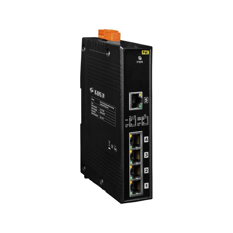 5 Ports Industrial Poe Switch Ns 205pse 24v