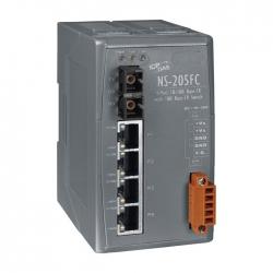 4-port 10/100 Mbps Ethernet with 1 fiber port Switch NS-205FC