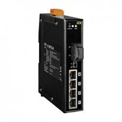 4-port 10/100 Mbps PoE with 1 fiber port Switch NS-205PFC-60
