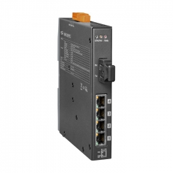 4-port 10/100 Mbps PoE with 1 fiber port Switch NSM-205PFCS